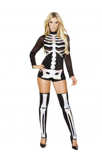 1pc Jackie Skeleton Costume