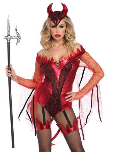 2PC. Dazzling Red Devil Costume