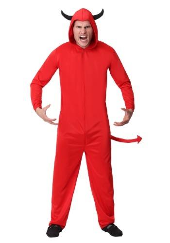 Adult Devil Jumpsuit Men's Costume