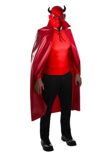 Adult Scream Queens Devil Mask & Cape Costume Set