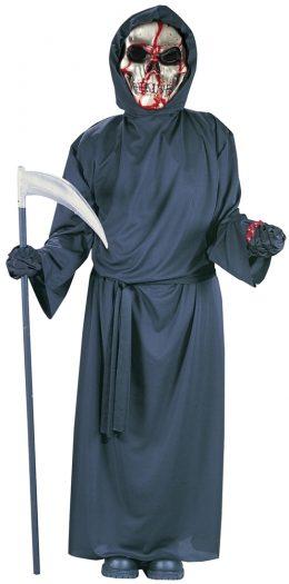 Bleeding Skull Grim Reaper Child Costume
