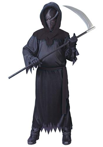 Child Black Faceless Ghost Costume