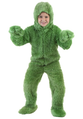 Child Green Furry Jumpsuit Costume