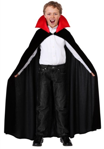 Child Red Collar Vampire Cloak Costume