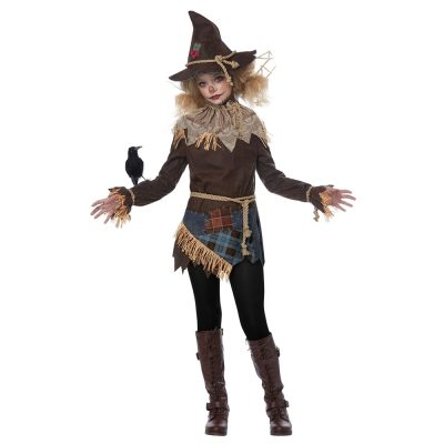 Creepy Scarecrow Girl Child Costume