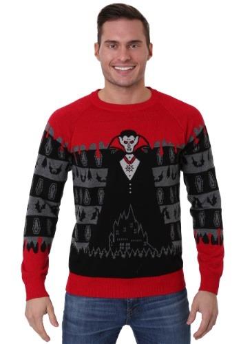 Dracula Vampire Halloween Adult Sweater