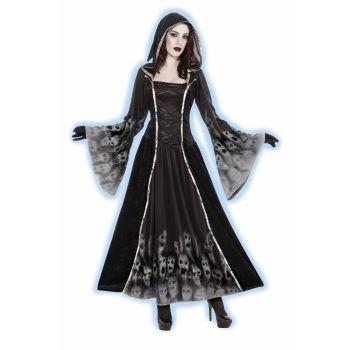 Forsaken Souls Gothic Black Robe Costume