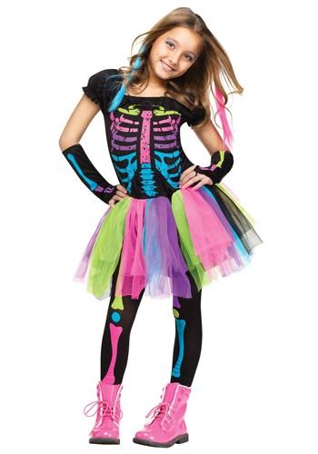 Girl's Funky Punky Bones Costume