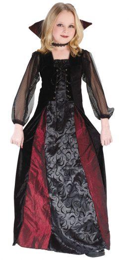 Girls Gothic Maiden Vamp Halloween Costume