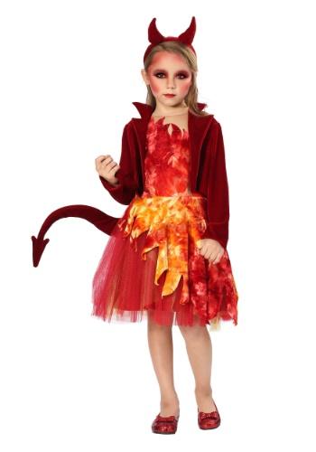 Girls Red Jacket Devil Costume