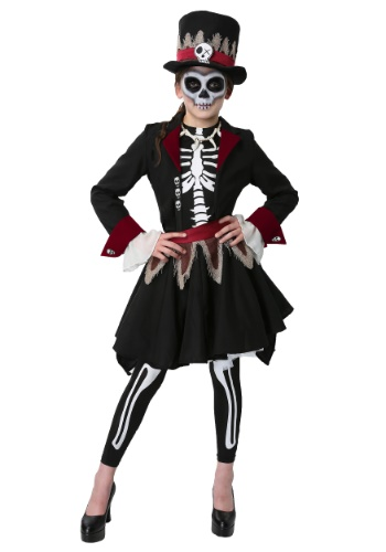 Girls Voodoo Skeleton Costume