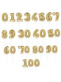 Gold Number 9 Self-Inflating Balloon Cake Topper