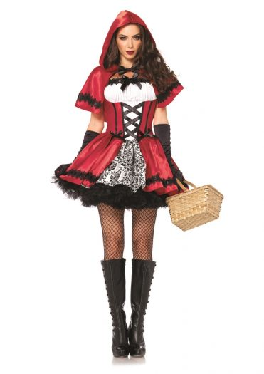 Gothic Red Riding Hood Adult Womens Costume