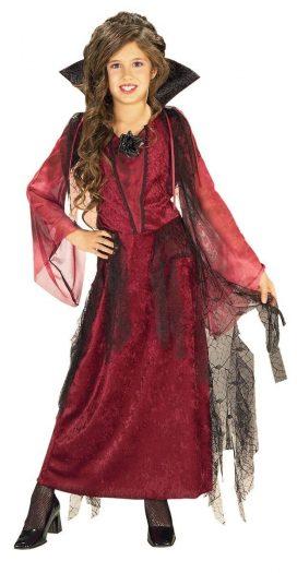 Gothic Vampiress Girls Child Halloween Costume