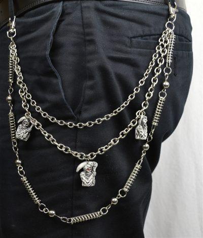 Grim Reaper Triple Wallet Chain