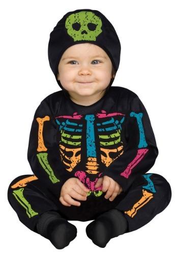 Infant Color Bones Jumpsuit Costume