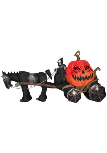 Inflatable Reaper & Carriage w/ Sound
