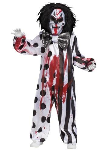 Kids Bleeding Killer Clown Costume
