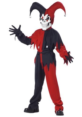 Kid's Evil Jester Costume