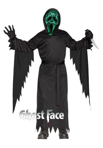 Kids Smoldering Ghost Face Costume