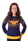Kid's Wonder Woman Navy Ugly Christmas Sweater