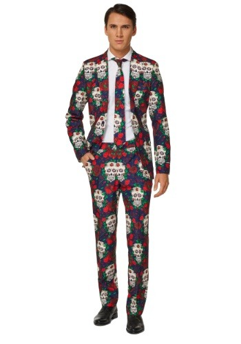 Men's Day of the Dead Suitmeister Suit Costume