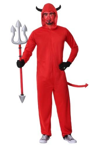 Men's Plus Size Devil Jumpsuit Costume