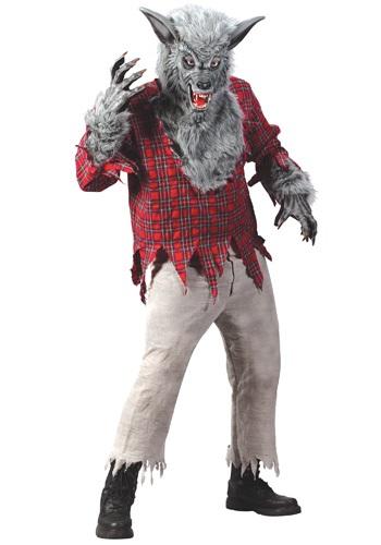 Men's Silver Werewolf Costume