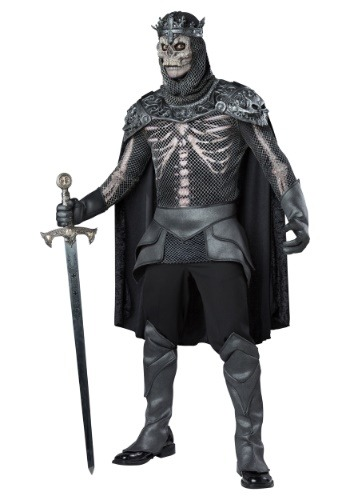 Mens Skeleton King Costume