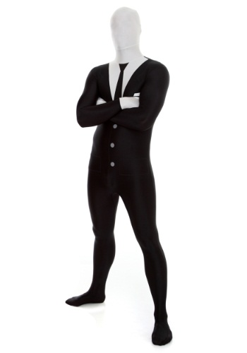 Men's Slenderman Morphsuit Costume