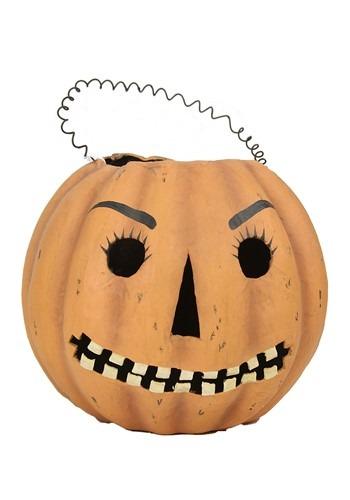 Mr Jack O Lantern Halloween Decor Candy Bucket