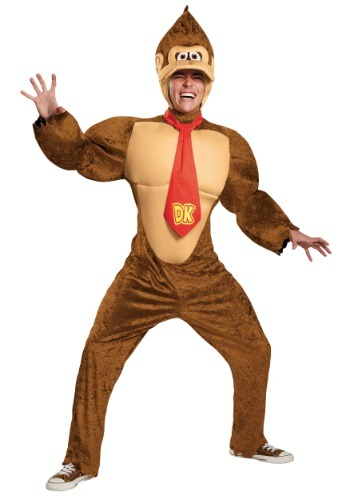 Plus Size Adult Deluxe Donkey Kong Costume