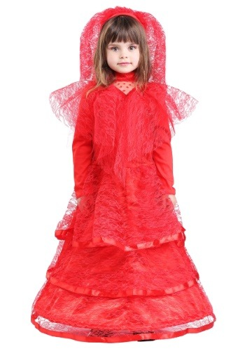 Red Gothic Wedding Dress Costume for Toddlers