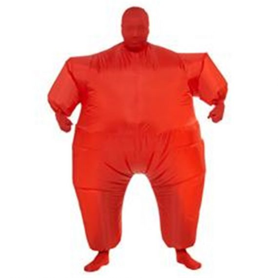 Red Inflatable Jumpsuit Adult Unisex Costume
