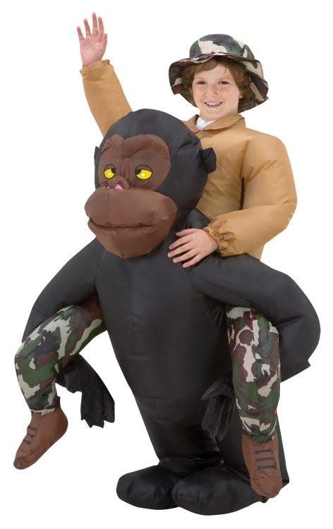 Riding Gorilla Kids Inflatable Costume