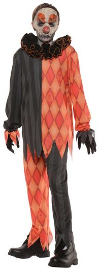 Scary Evil Clown Child Costume