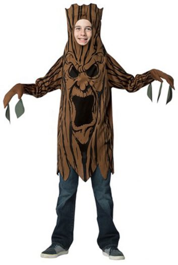 Scary Tree Teen Tunic Costume