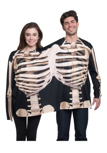 Skeleton 2 Person Long Sleeve Tee Costume