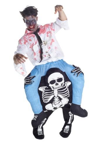 Skeleton Piggyback Mens Costume