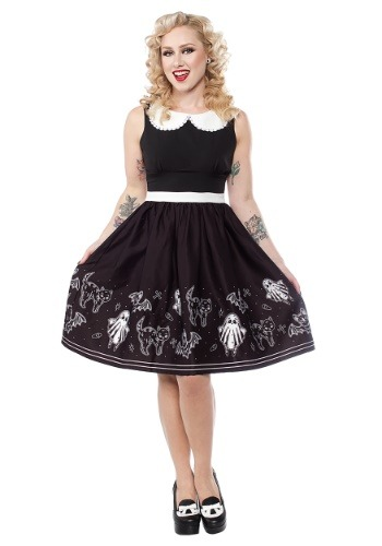 Sourpuss So Cute Its Spooky Halloween Shift Dress