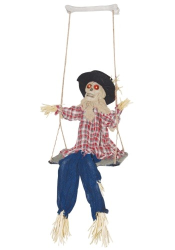 Swinging Evil Scarecrow Decoration