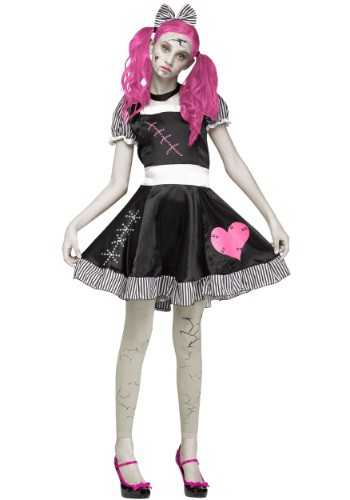 Teen Scary Broken Doll Costume