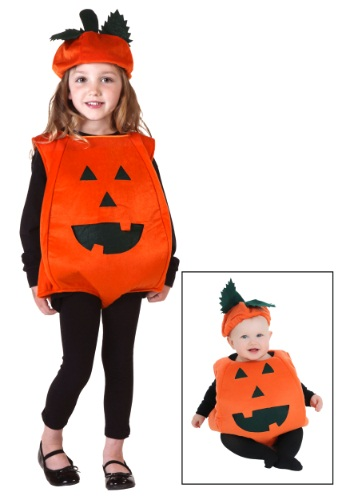 Toddler Orange Pumpkin Costume