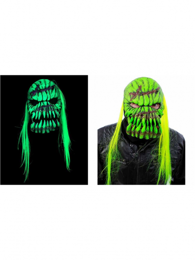 UV Green Glow Bone Crusher Mask