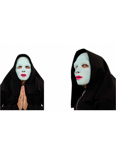 Uv Reactive Glow Satan'S Sister Halloween Mask