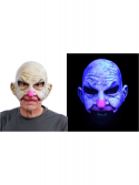 Uv White Glow Bald Carnival Creep Clown