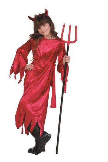 Velvet Devil Child Costume