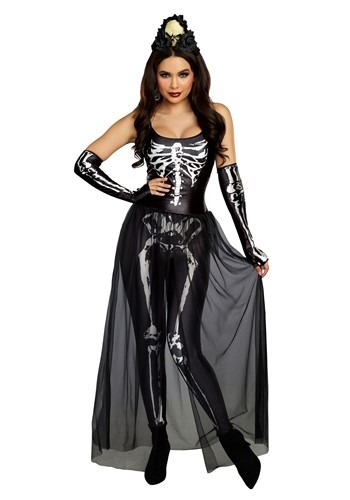 Women's Bare Bone Babe Skeleton Costume