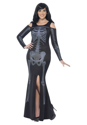 Women's Curves Skeleton Dress Costume