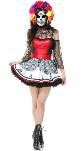 Women's Day Of the Dead Scary Costume